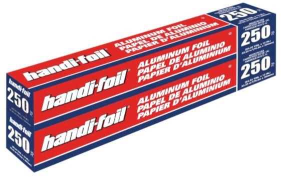 Papier d'aluminium Handi-Foil, 250 pi, paq. 2