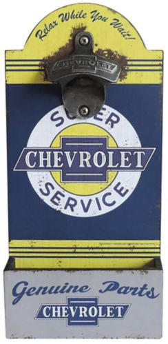 Wall Mounted Chevy Bottle Opener Product image