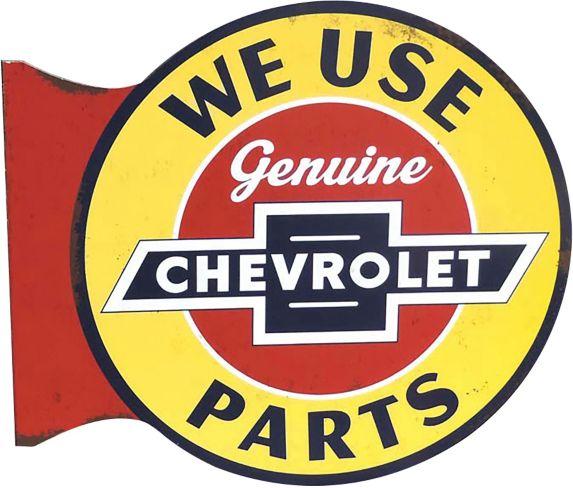 Plaque Chevrolet 3D de style pub Image de l'article