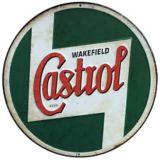 Plaque en métal Castrol ronde