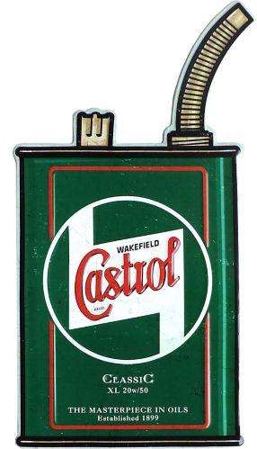 Plaque de bidon Castrol en métal