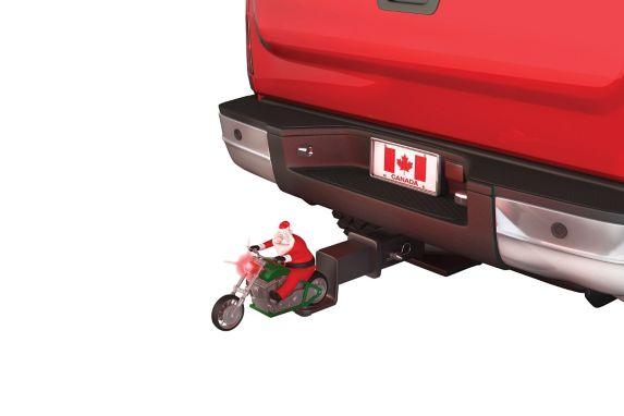 Couvre-attelage, père Noël en motocyclette Image de l'article
