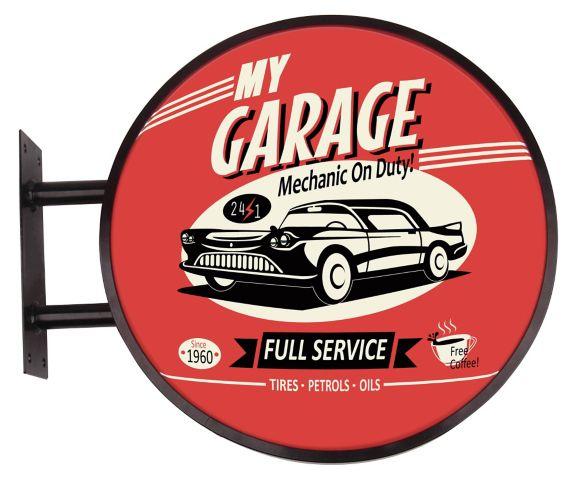 Plaque à DEL de style pub « Mechanic On Duty » Image de l'article