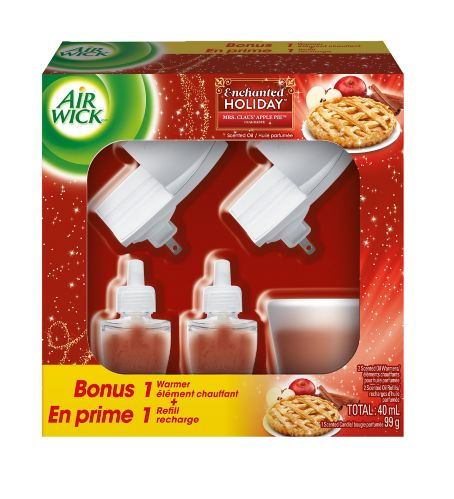 Air Wick 2+2+1 Scented Oil & Candle Kit, Mrs. Claus Apple Pie Product image