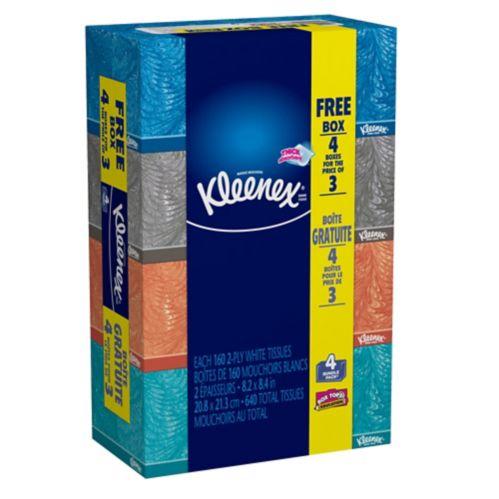 Mouchoirs Kleenex Mainline, paq. 4