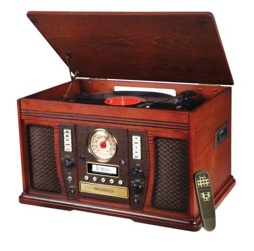 Table tournante classique 6-en-1 enregistrable Innovative Technology Nostalgia