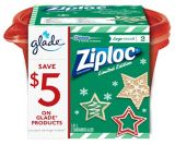 Ziploc® Holiday Round Containers, Red, Large | Ziplocnull