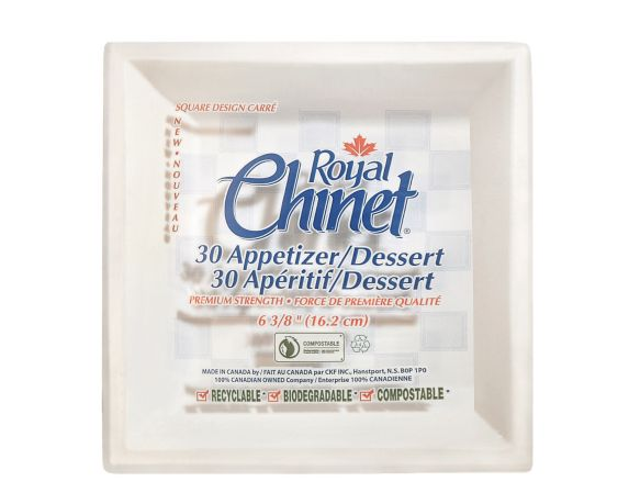 Royal Chinet Disposable Square Appetizer Plates, 6.38-in, Product image