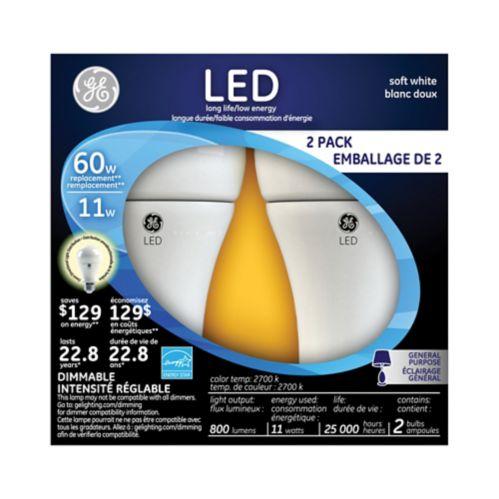 Ampoule à DEL GE, 60 W, paq. 2 Image de l'article