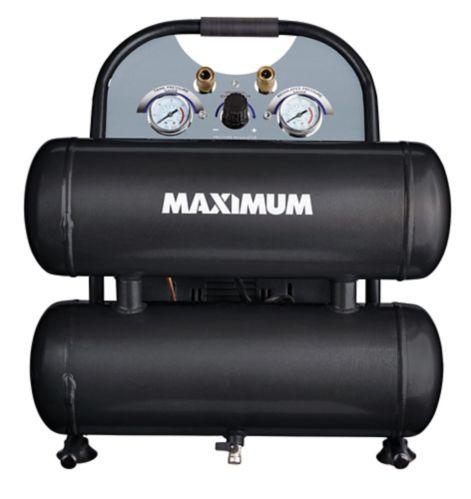 Compresseur Maximum très silencieux à 2 réservoirs, 4,6gal Image de l'article