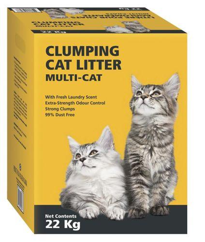 Litière agglomérante multi chats, 22 kg Image de l'article