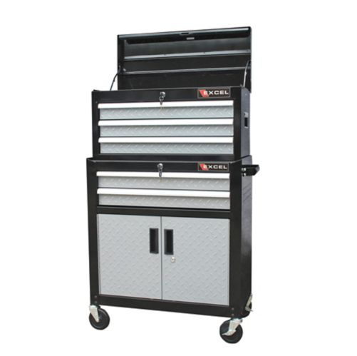 Black & Silver Tool Chest Combo, 26-in Product image