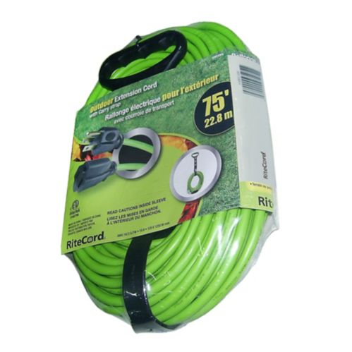 Outdoor Extension Cord with Carry Strap, 75-ft Product image