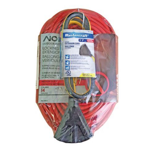 Rallonges d'extérieur à fiche à verrouillage NOMA, 3 pces