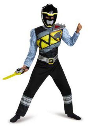 Costume d'Halloween Power Ranger noir pour enfants