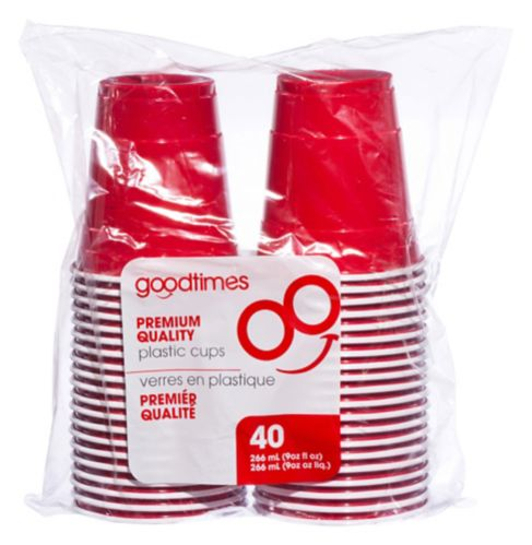Goodtimes Red Party Cups, 9-oz Product image