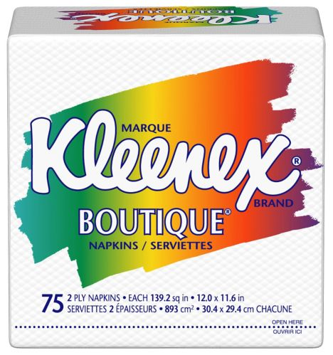 Serviettes de table Kleenex Boutique, paq. 75 Image de l'article