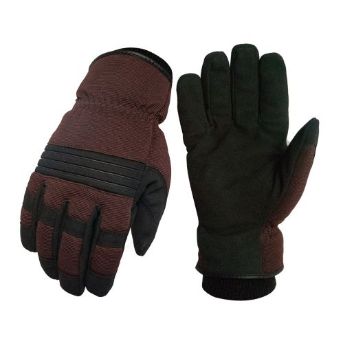 Lined Winter Work Gloves with Elasticized Cuff, Large Product image