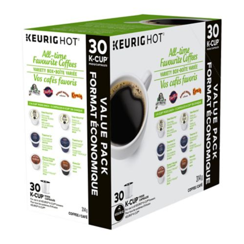 Keurig All-Time Favourite Coffees K-Cup Pods Variety Box, 30-pk