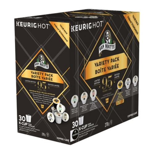 Boîte variée de dosettes K-Cup Keurig Van Houtte, 95e anniversaire, paq. 30