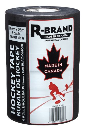 Black Hockey Tape, 6-pk