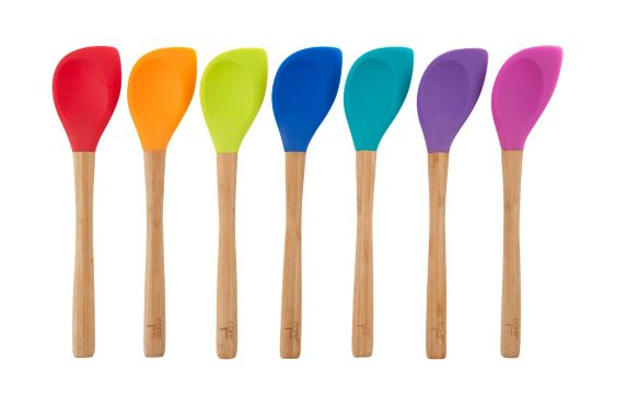 Core Kitchen Bamboo & Silicone Pointed Spoon