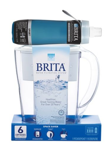Brita Space Saver Pitcher with Water Bottle Product image