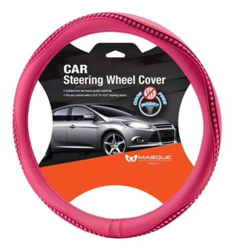 Marklyn Bling Steering Wheel Cover, Pink Product image