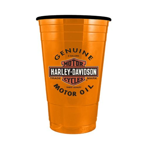 Verre Harley-Davidson en forme de bidon d'huile, orange, 16 oz Image de l'article