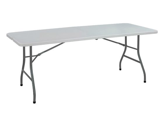 Table pliante, 6 pi, gris Image de l'article