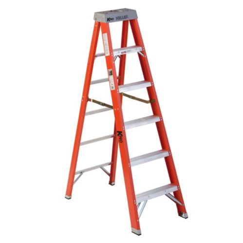 KPro Type lA Fiberglass Step Ladder, 6-ft Product image