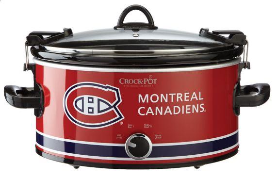 Crock-Pot Montreal Canadiens Slow Cooker, 6-qt