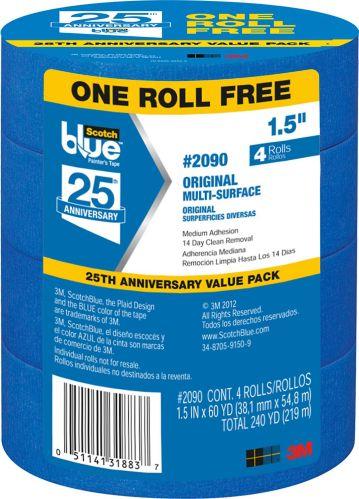 Scotch-Blue Painter's Tape, 4-pk Product image