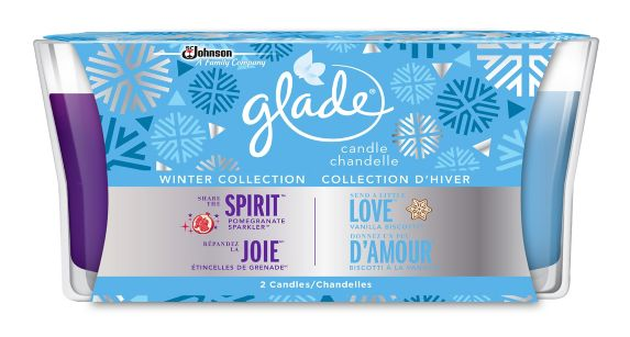 Glade® Send a Little Love & Share the Spirit Holiday Candles, 2-pk