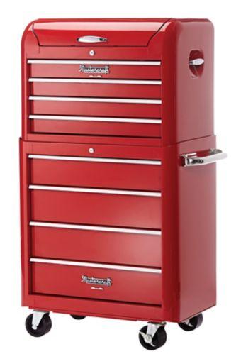 Duo coffre et armoire à outils rétro Mastercraft, rouge, 28 po Image de l'article