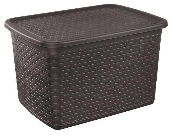 Sterlite Tote Storage Basket, Brown Weave, 64 L Product image