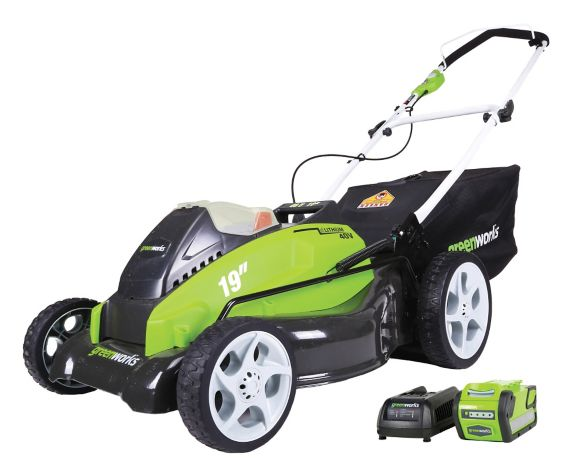 Greenworks 40V Lithium Cordless Lawn Mower, 19-in Product image