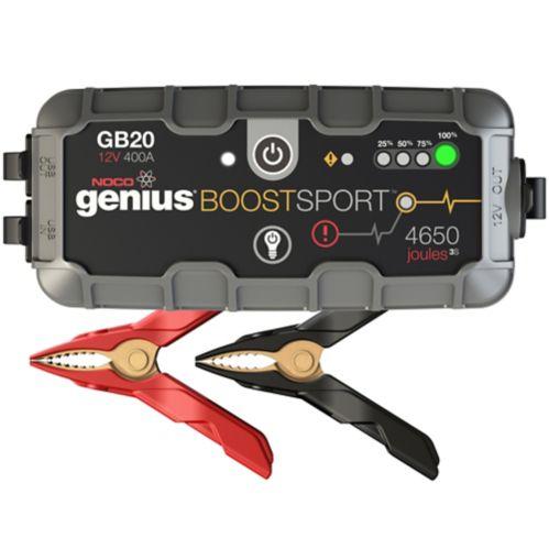 Démarreur de batterie et bloc d'alimentation NOCO Genius Boost Sport GB20, 400 A