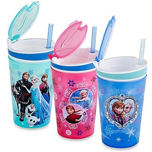 Gobelet Snackeez Jr, comme à la télé Gobelet 2-en-1 collation/boisson, Disney La Reine des neiges