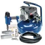 Campbell 6 Gallon Hausfeld Air Compressor and Brad Nailer/Stapler Combo Kit | Campbell Hausfeldnull