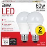Feit Electric 60W LED A19 Light Bulb, 2-pk | Feit Electricnull