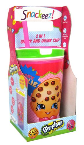 As Seen on TV Snackeez Shopkins 2-in-1 Snack & Drink Cup Product image