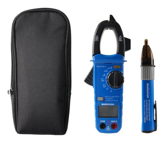 Mastercraft Digital Clamp Meter with Bonus Voltage Tester Product image