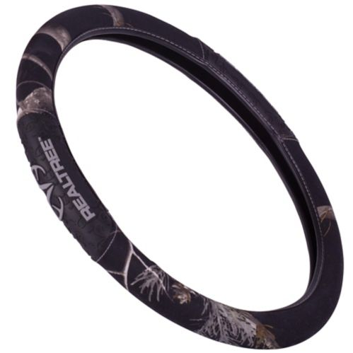 Realtree 2-Grip Steering Wheel Cover, Black