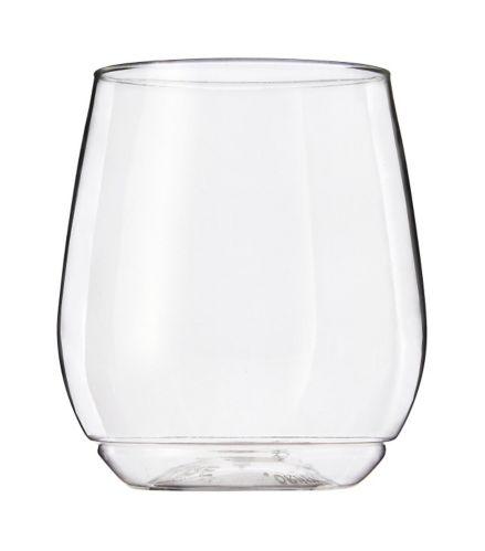 Tossware Shatterproof Stackable Vino Glassware Set, 380-ml, 4-pk