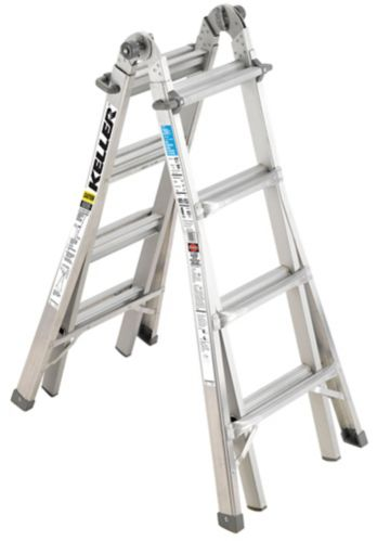 Keller Aluminium Grade 1 Multi-Ladder, 17-ft Product image