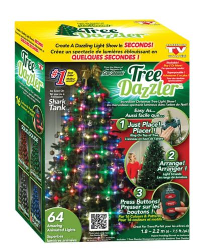 Lumière Tree Dazzler pour les fêtes tel que vu à la télé