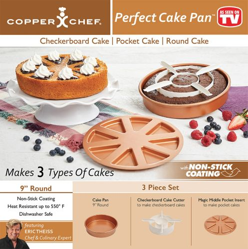 As Seen On TV Copper Chef Perfect Cake Pan Set