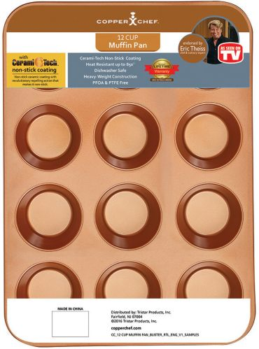 As Seen on TV Copper Chef Muffin Pan Product image