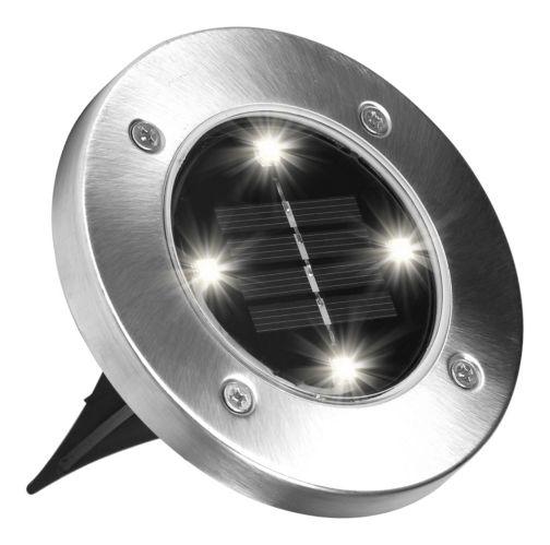 Lumières solaires d'extérieur Disk Lights Bell & Howell, Comme à la TV Image de l'article